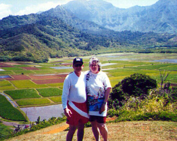 Hanalei Valley; where most of the Hawaiian taro is grown. The roots are pounded into poi