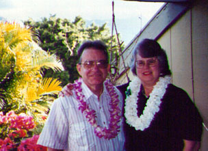 Neil & Susan on the Scott's lanai, Kaneohe