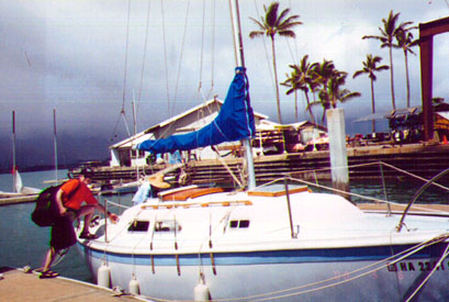 Neil with sailboat at Kaneohe Marine Base
